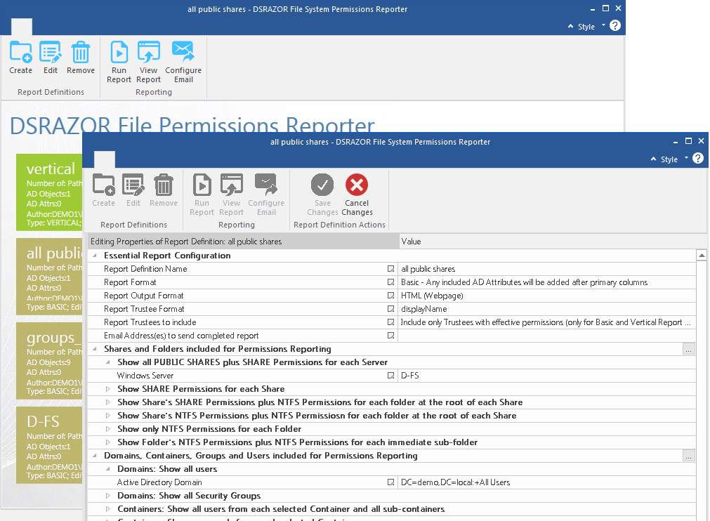 Report and Manage Windows File Share Permissions
